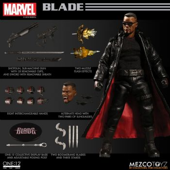 ** Pre-Order ** Mezco One:12 Collective Marvel Comics Blade Figure Monthly Pay
